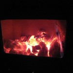 charcoal wood is burning